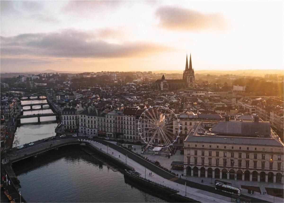 Photographie aérienne de la ville de Bayonne