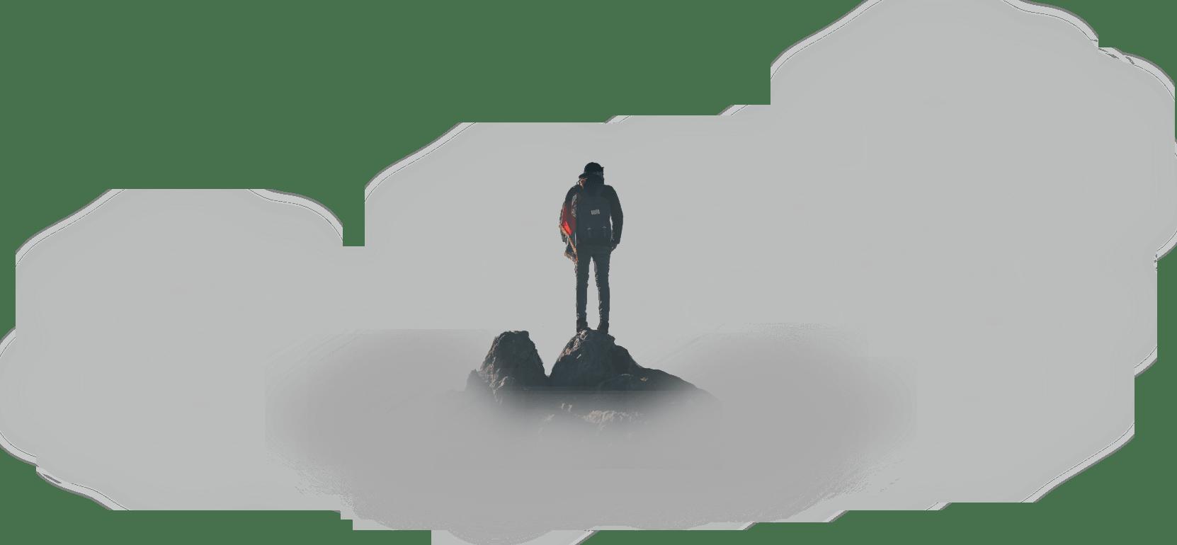 homme sur montage de dos avec nuage les petits aviateurs