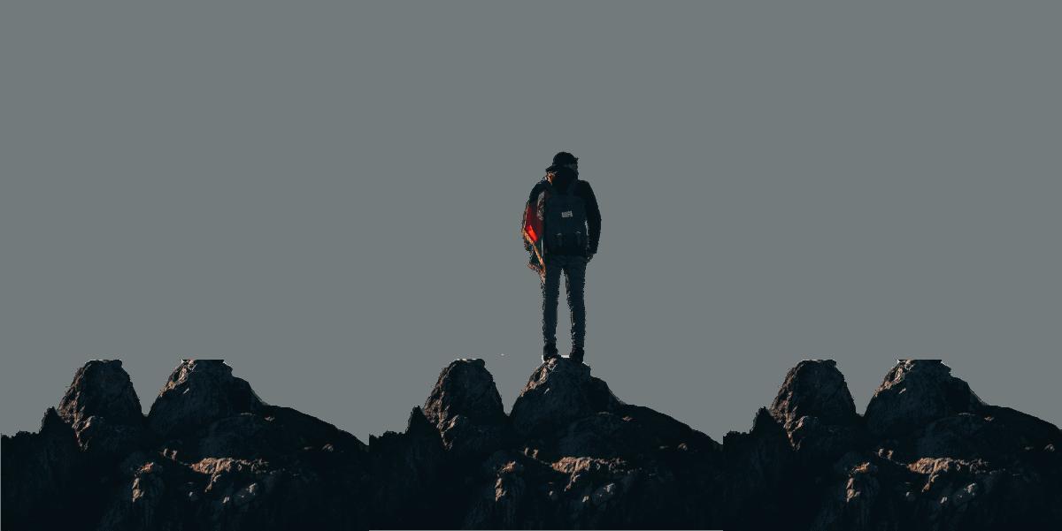 homme sur montagne lpa paysage