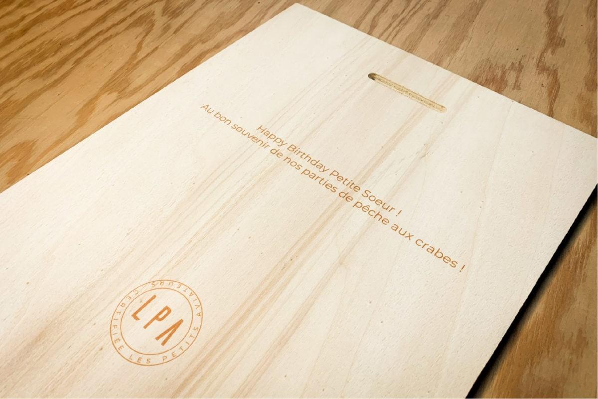 verso personnalisé tableau en bois message personnalisé les petits aviateurs