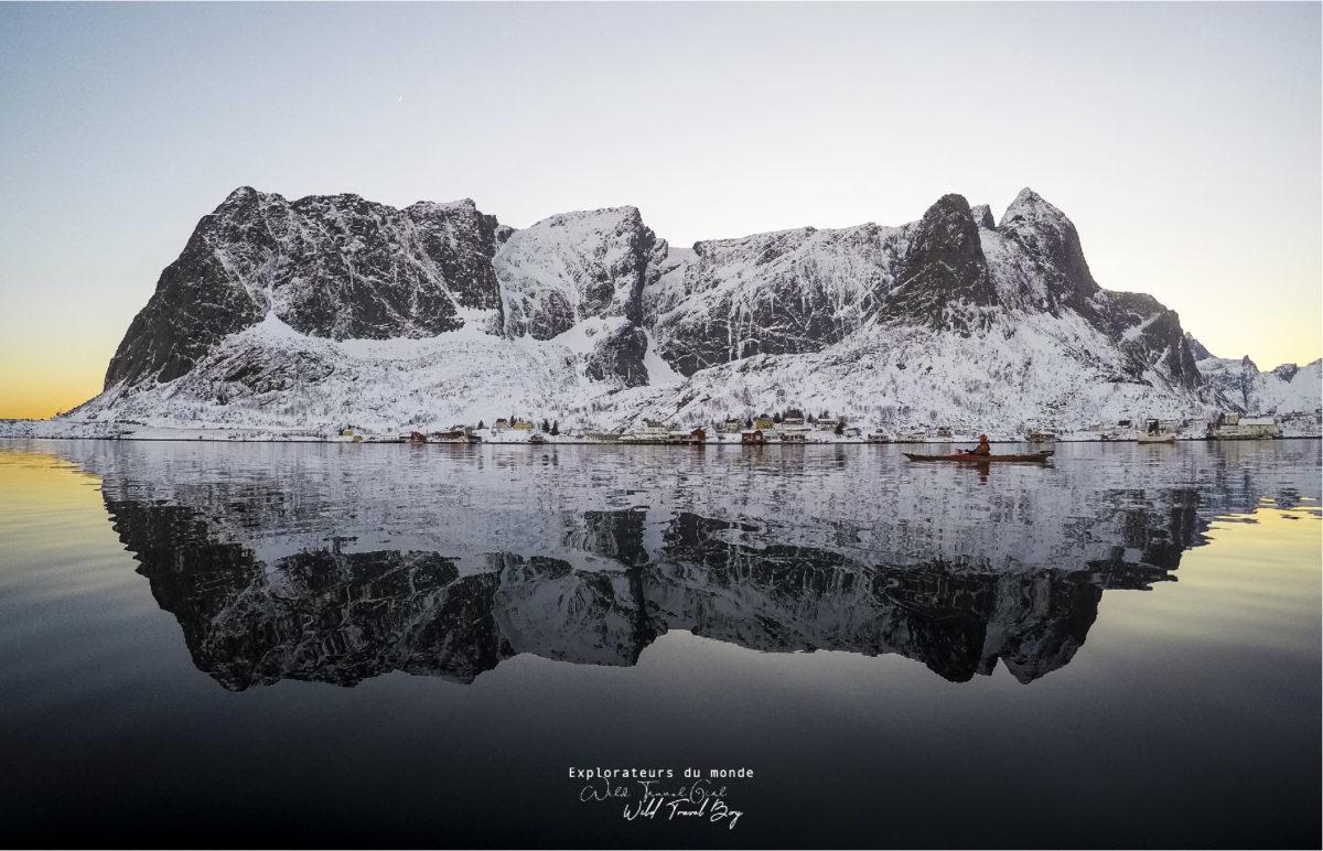 photo sur bois wild travel les petits aviateurs Fjellrefleksjon Norvège