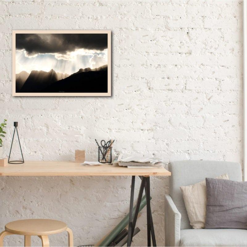 pluie de lumiere 2 tableau ecoresponsable 40X60cm