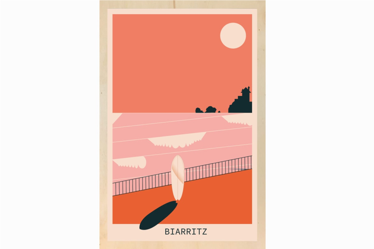 biarritz illustration decoration ecoresponsable