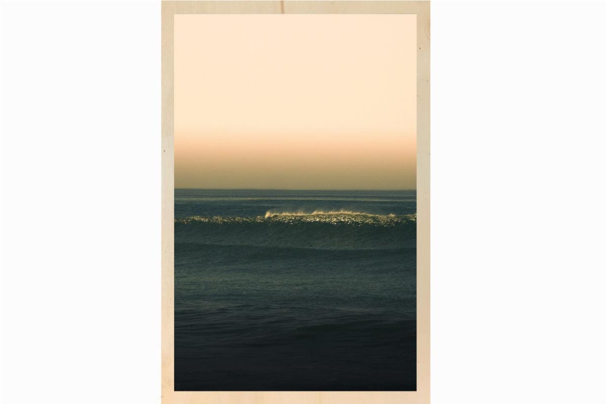 big waves impression sur bois