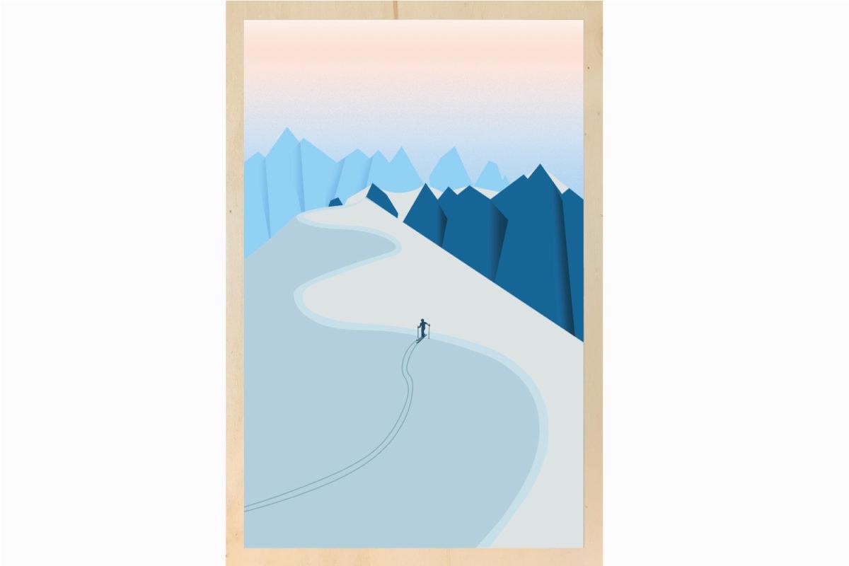 impression sur bois illustration les petits aviateurs