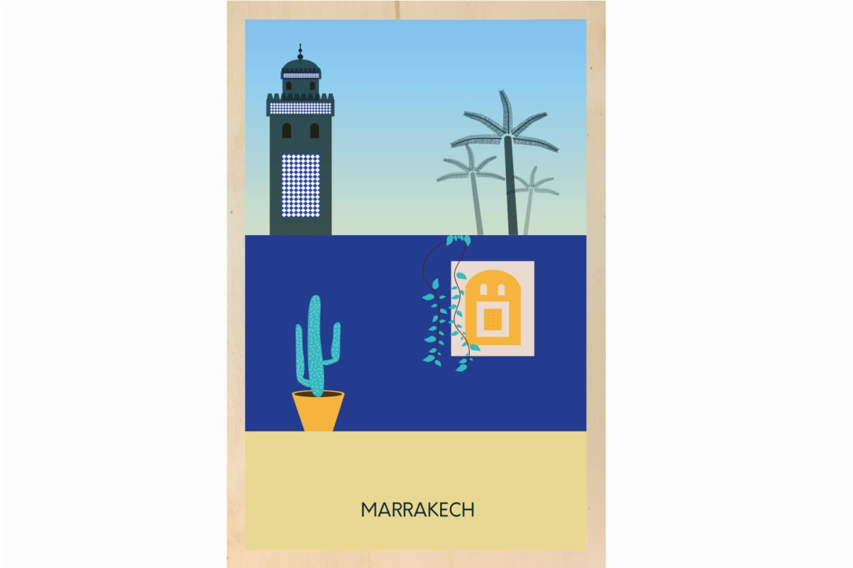 marrakech illustration decoration ecoresponsable