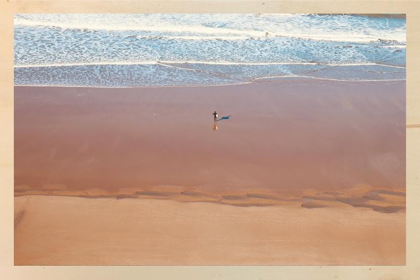 Sur la plage en chocolat