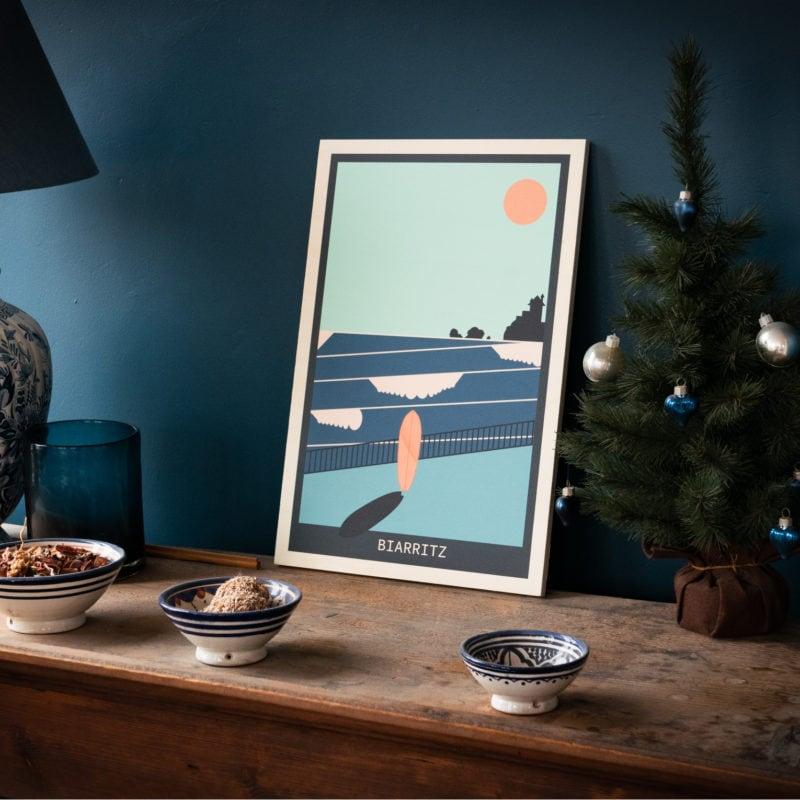 tableau écoresponsable en bois francais les petits aviateurs