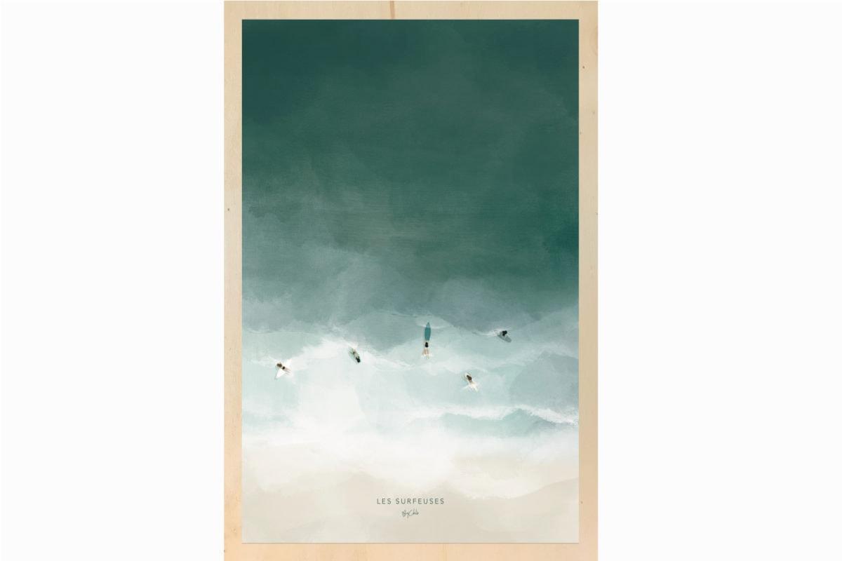 Impression ecoresponsable tableau en bois français By Chlo les petits aviateurs